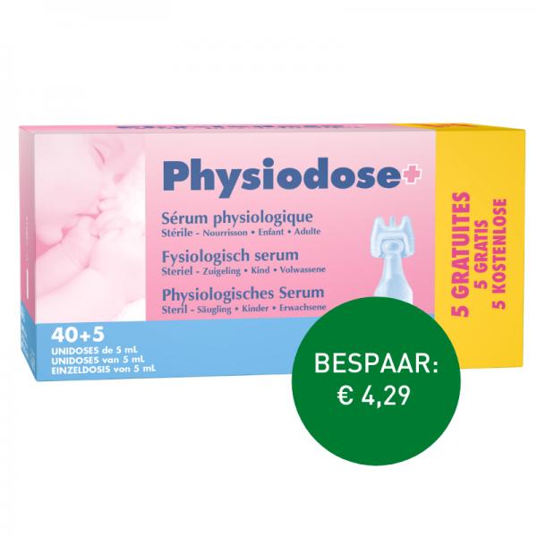 Apotheek Du Faux: Physiodoses 40 x 5ml + 5 gratis