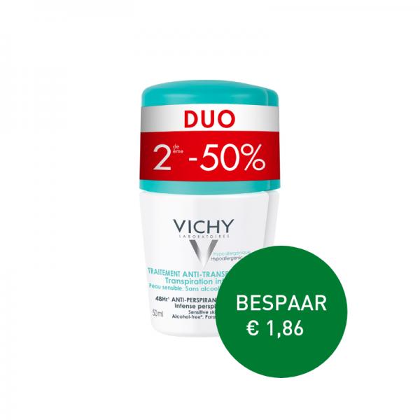 Apotheek Du Faux | Vichy Anti-transpiratie Deodorant Roller 48u 2 x 50ml