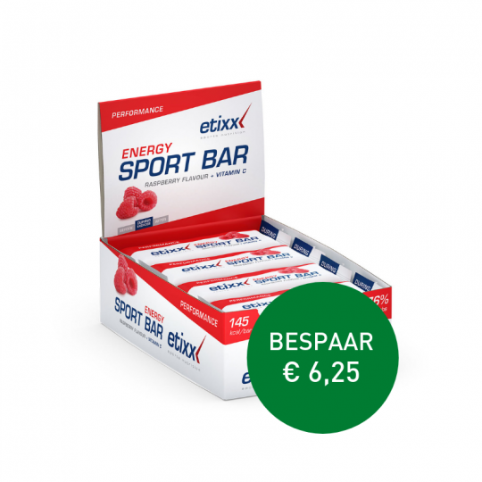 Apotheek Du Faux | Energy raspberry sport bar 12 x 40g