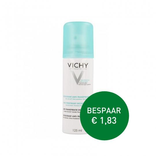 Apotheek Du Faux   Vichy anti-transpiratie deodorant Aerosol 24u 2 x 125ml