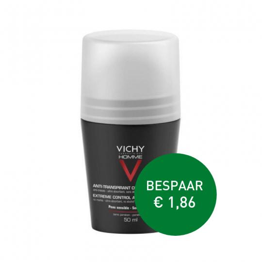 Apotheek Du Faux | Vichy homme anti-transpiratie deodorant Roller 72u 2 x 50ml